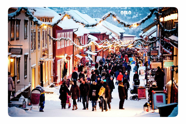 Осло на рождество