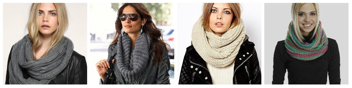 каксвязать шарф хомут спицами