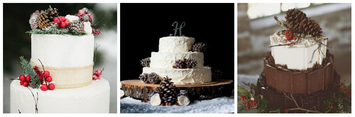 зимний торт на свадьбу