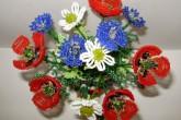 Полевые цветы из бисера — мастер класс