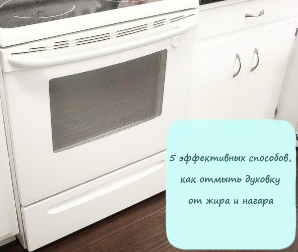 5 эффективных способов, как отмыть духовку от жира и нагара внутри