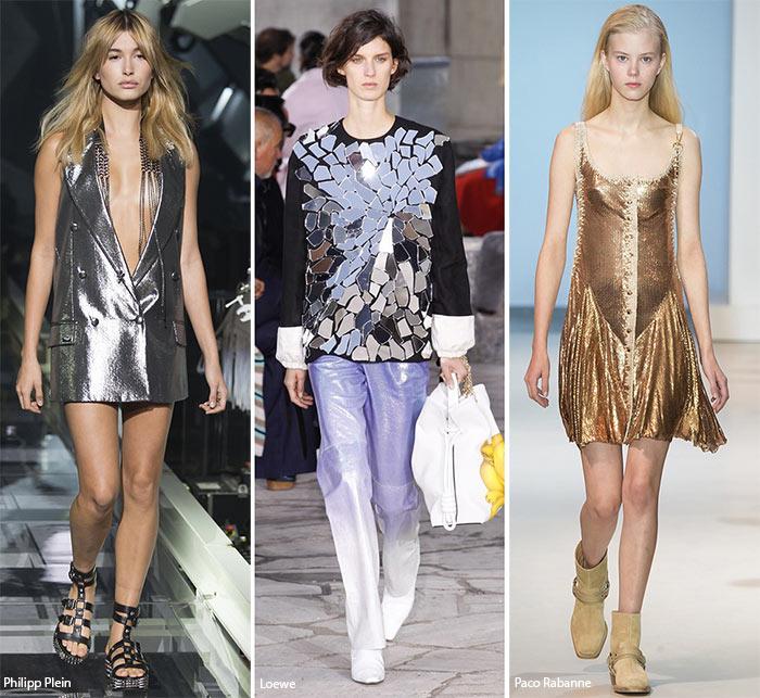 металлические платья
