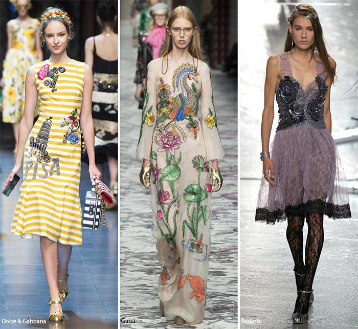 платья с эмблемами