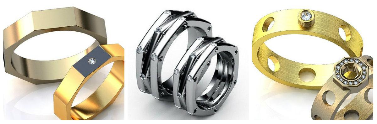 обручальные кольца из белого золота парные фото