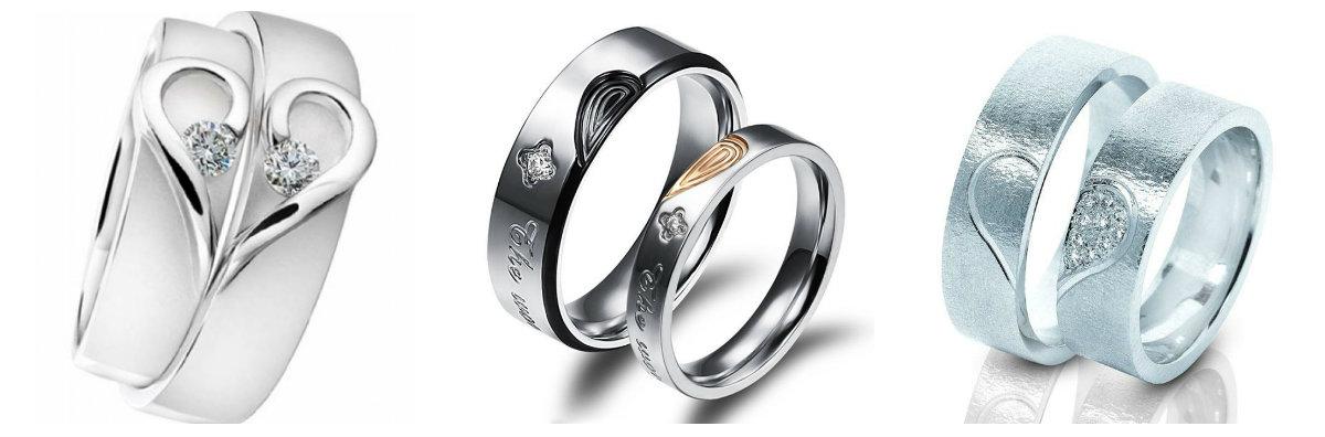 обручальные кольца парные белое золото с бриллиантами