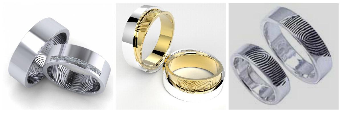 парные обручальные кольца из белого золота без камней