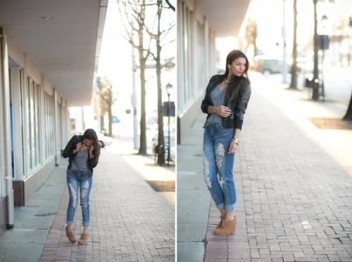 Сникерсы и джинсы фото