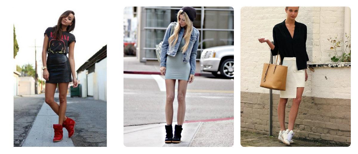 Сникерсы и юбки фото