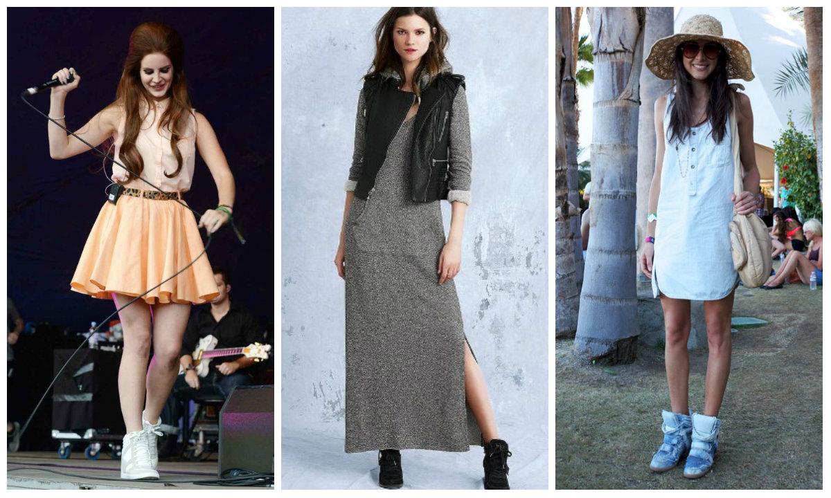 Сникерсы и платья фото