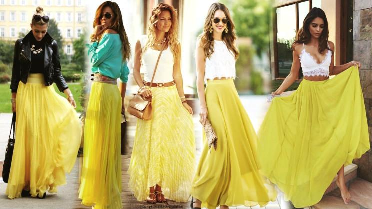 С чем носить желтую юбку: некоторые правила и дельные советы