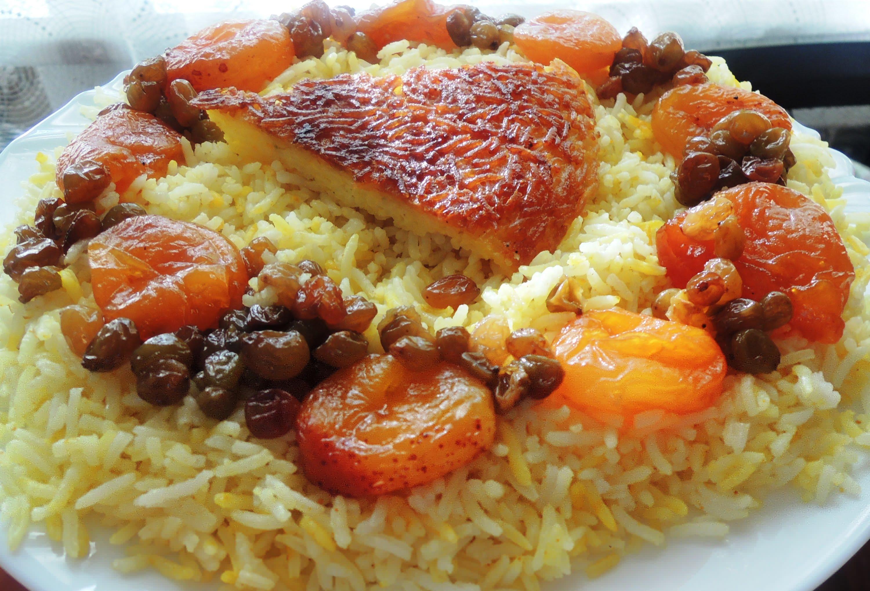 как приготовить азербайджанский плов с сухофруктами и мясом
