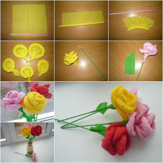 Как сделать розу из салфетки бумажной