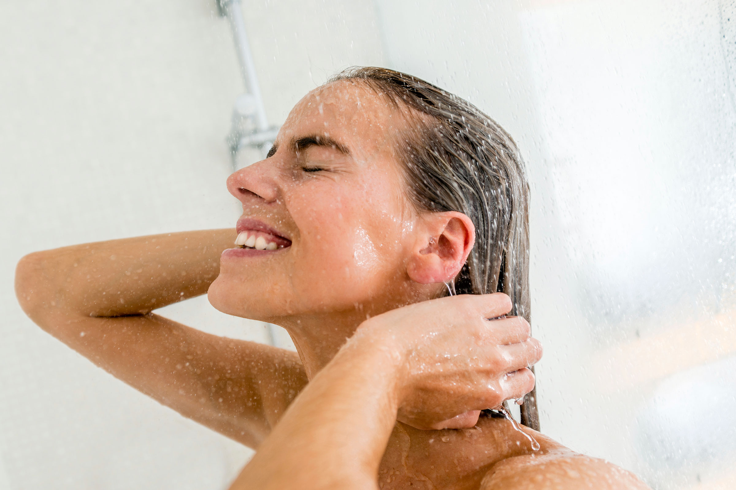 теплый душ после массажа